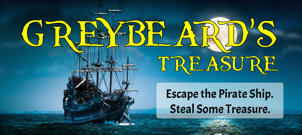 Greybeard's Treasure Escape Room Banner